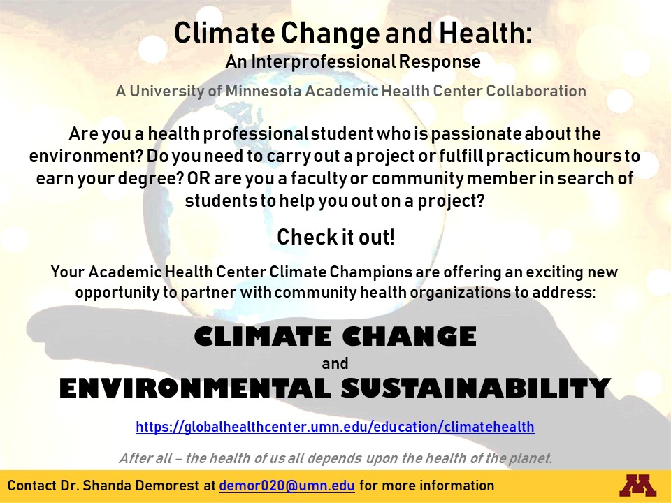climate change and health curriculum flyer