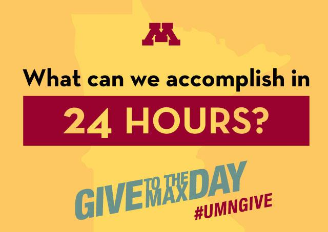 What can we accomplish in 24 hours? Give to the Max Day