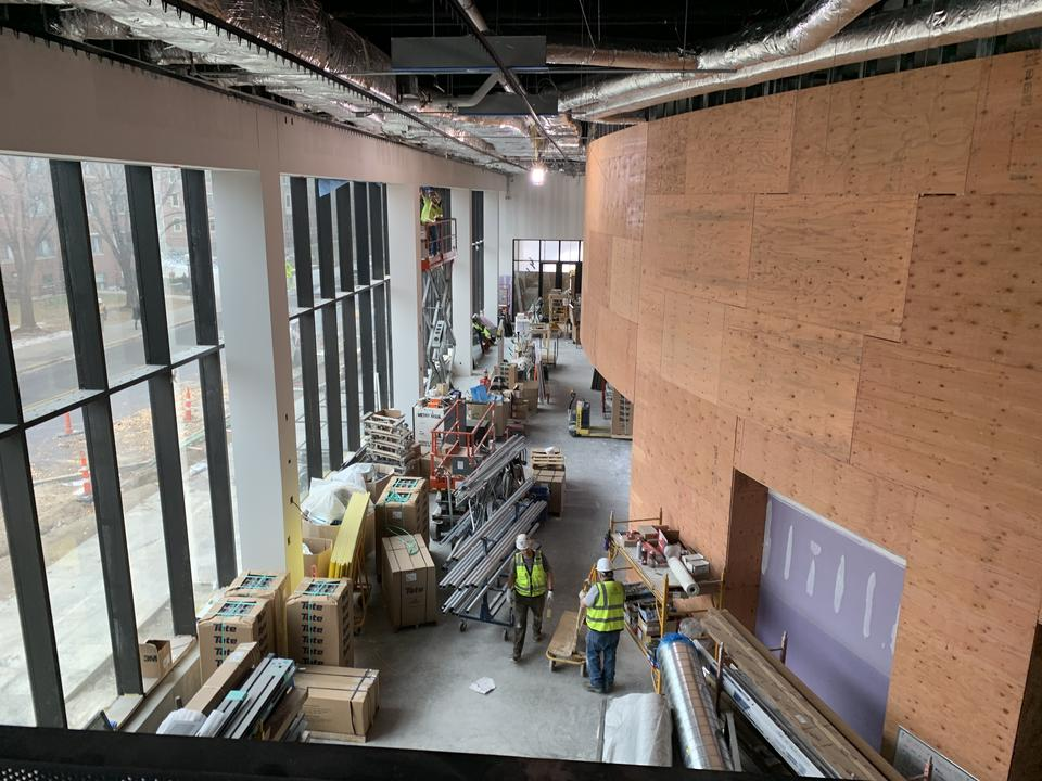 HSEC 3rd from 4th Mezzanine mid-construction