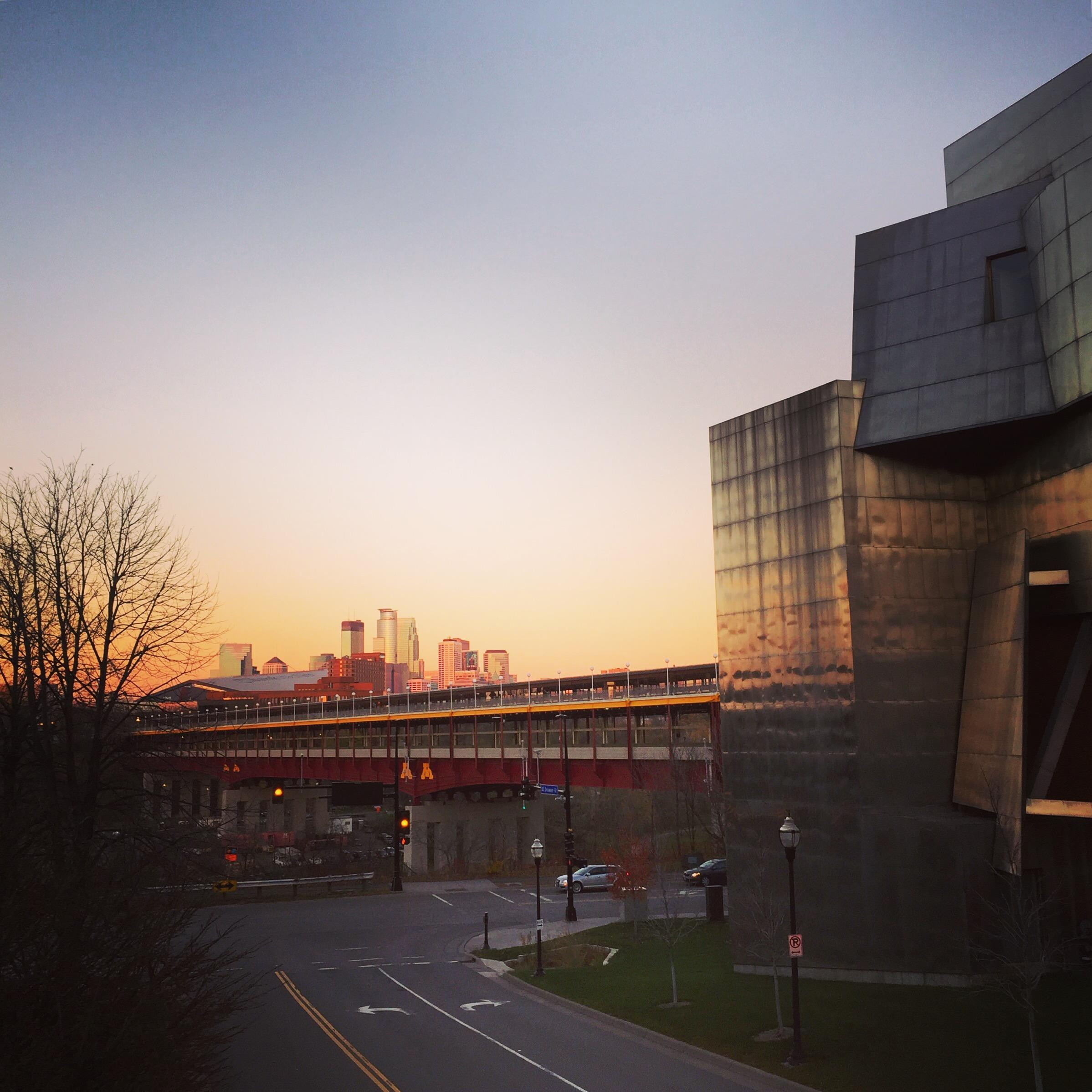 Weisman Art Museum at sunrise